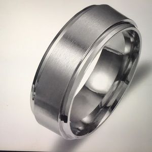 Men Women Stainless Steel Titanium Ring / SZ 10.5